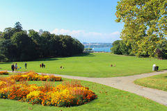 GENEVA, SWITZERLAND - SEPTEMBER 07: Park la Grange, Geneva, Switzerland. September 07, 2012 royalty free stock photography