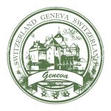 Geneva, Switzerland stamp Royalty Free Stock Photo