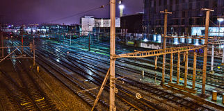 geneva switzerland trainyard Arkivfoto