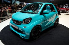 Smart ForTwo Cabrio: Soft-Top at Geneva 2017 Royalty Free Stock Photo