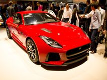 Jaguar F-Type Geneva 2017 royalty free stock photos