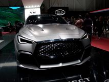Infiniti Project Black S Concept in Geneva 2017. Geneva, 87th Salon de l`Auto 2017 Royalty Free Stock Image