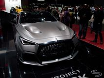 Infiniti Project Black S Concept in Geneva 2017. Geneva, 87th Salon de l`Auto 2017 Stock Image