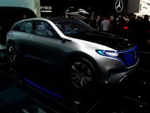 Mercedes Benz EQ in Geneva 2017 stock photos