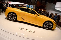 Lexus LC 500 Geneva 2017. Geneva, 87th Salon de lAuto 2017 Stock Photo