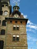 Geneva, Tour du Molard 01. The clock tower, Tour du Molard in Geneva, Switzerland stock images