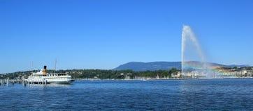 Geneva view on the lake, Switzerland Stock Photo