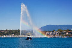 Geneva water fountain Royalty Free Stock Photos