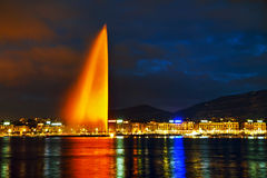 Geneva Water Fountain (Jet d'Eau) Royalty Free Stock Image