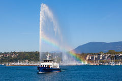Geneva water fountain Stock Photos