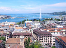 Geneva and the Water jet Stock Image
