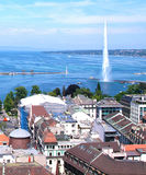 Geneva and the Water jet Stock Photos
