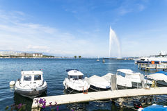 Geneva water jet Royalty Free Stock Images