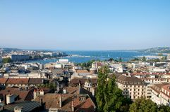 Genevas panorama Royaltyfria Foton