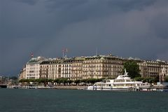 Geneve city. A normal summer cloudy in Geneve city Stock Images