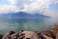 Geneve lake Royalty Free Stock Image
