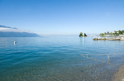 Geneve lake in Montreux Stock Photos