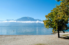 Geneve lake in Montreux Stock Photography