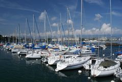 Geneve yacht club Royalty Free Stock Image
