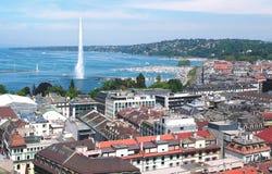 Genewa i Leman jezioro Fotografia Stock