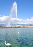 Genewa, Jeziorny Genewa, Szwajcaria Obrazy Royalty Free