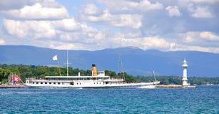 Genewa przy Jeziorny Genewa, Szwajcaria Obrazy Stock