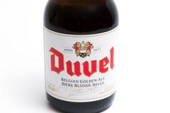 Genewa, Switzerland -17/ 07 18: Duvel Belgium Piwny belgijski piwo Zdjęcie Stock