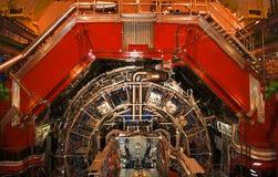 Genewa Szwajcaria, Czerwiec, - 20, 2014: Large Hadron Collider LHC w CERN w utrzymaniu zdjęcia stock