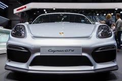 GENEWA SZWAJCARIA, MARZEC, - 2016: Porsche Cayman GT4 Obrazy Royalty Free