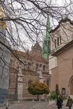 GENEWA SZWAJCARIA, PAŹDZIERNIK, - 30, 2015: Ulica w Starym miasteczku miasto Genewa Zdjęcie Royalty Free