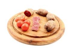 Genezen vlees met tomaten Royalty-vrije Stock Foto