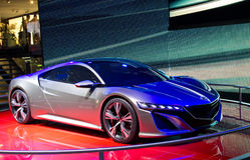 Genf 2012 - Konzeptauto Honda-NSX Lizenzfreie Stockfotografie