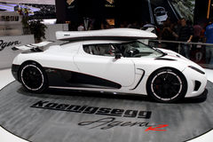 Genf-Autoausstellung â 2011 Koenigsegg Agera R Lizenzfreies Stockbild
