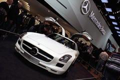Genf-Autoausstellung â 2011 MERCEDES SLS AMG Lizenzfreie Stockfotos