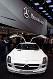 Genf-Autoausstellung â 2011 MERCEDES SLS AMG Lizenzfreies Stockfoto