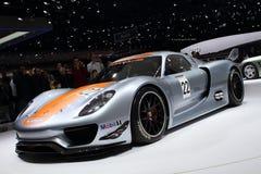 Genf-Autoausstellung â 2011 Porsche 918 RSR Stockfotos