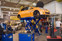 Genf-Autoausstellung 2009 - Auto auf Erbauer Lizenzfreies Stockfoto