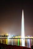 Genf bis zum Night Stockfotografie