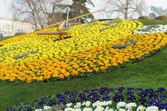 Genf-Blumen-Uhr Lizenzfreies Stockfoto