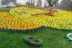 Genf-Blumen-Uhr Stockbilder