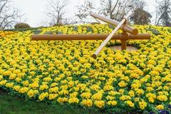 Genf-Blumen-Uhr Lizenzfreie Stockfotografie