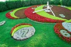 Genf-Blumen-Uhr Lizenzfreie Stockbilder