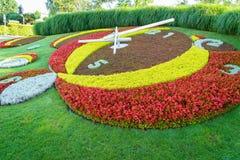 Genf-Blumen-Uhr Lizenzfreies Stockbild