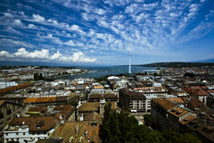 Genf-breite Luftaufnahme Lizenzfreie Stockfotos