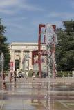 Genf die Schweiz das Platz-DES-Nationen iand der defekte Stuhl Stockfotografie