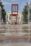 Genf die Schweiz das Platz-DES-Nationen iand der defekte Stuhl Lizenzfreie Stockfotografie