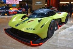 88. Genf-Internationale Automobilausstellung 2018 - Aston Martin Valkyrie AMR Pro Hypercar Stockfotografie