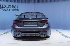 89. Genf-Internationale Automobilausstellung - Bahn-Ausgabe Lexuss RC-F stockfotografie