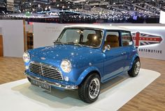88. Genf-Internationale Automobilausstellung 2018 - MINI Remastered durch David Brown Automotive stockbilder