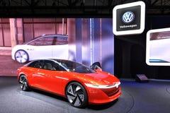 88. Genf-Internationale Automobilausstellung 2018 - Volkswagen I d Vizzion Lizenzfreies Stockbild
